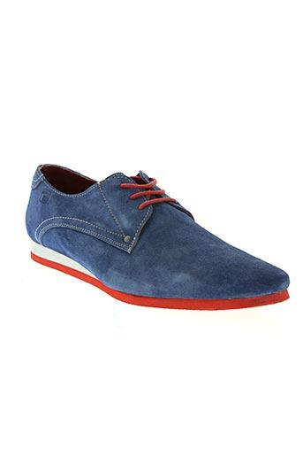 whooz chaussures homme de couleur bleu