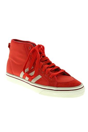 adidas chaussures garçon de couleur rouge