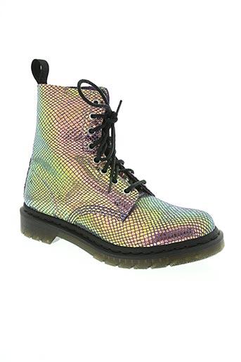 dr martens chaussures femme de couleur violet
