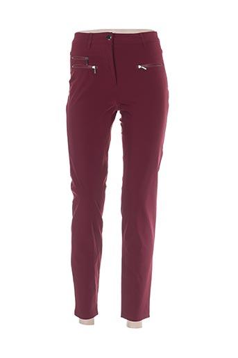 Pantalon casual rouge BETTY BARCLAY pour femme