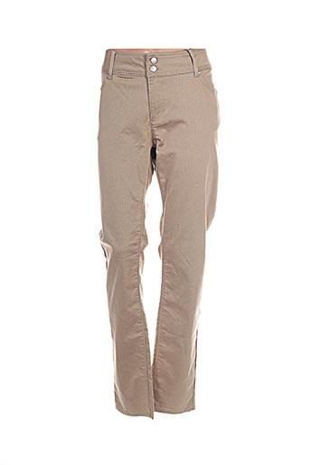 Pantalon casual beige IMITZ pour femme