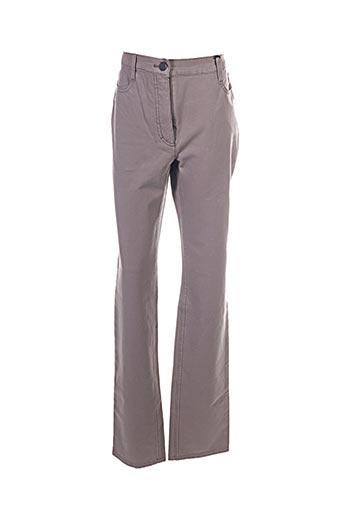 Pantalon casual marron BETTY BARCLAY pour femme