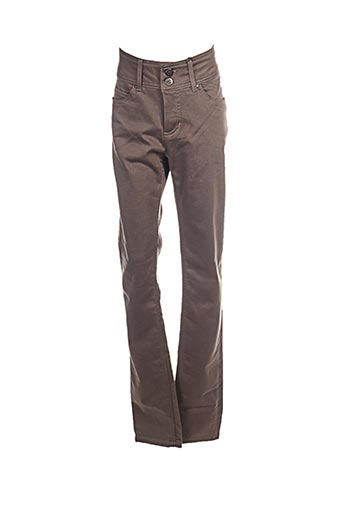 Pantalon casual marron IMITZ pour femme
