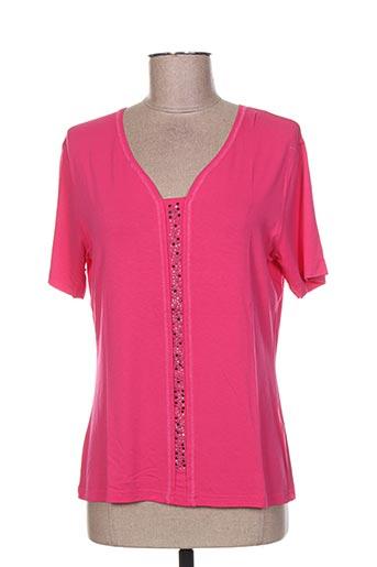 maille a. forcier t-shirts femme de couleur rose
