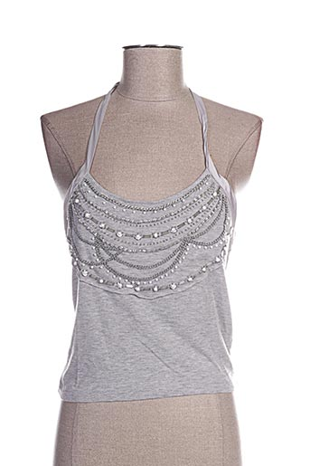Top gris FREE FOR HUMANITY pour femme