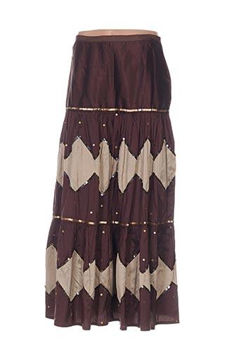 nathalie garcon jupes femme de couleur marron