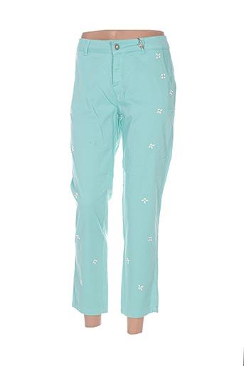 Pantalon 7/8 vert AQUAJEANS pour femme