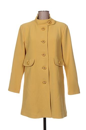 hippocampe manteaux femme de couleur jaune