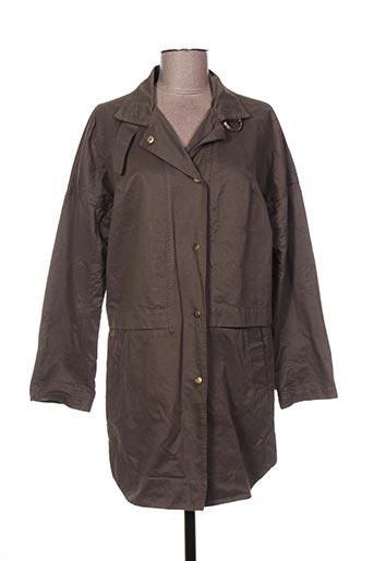 Manteau long vert IMITZ pour femme