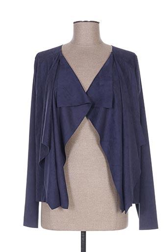 Veste casual bleu COTTON BROTHERS pour femme
