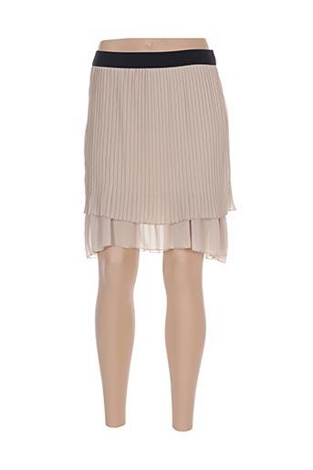 Jupe courte beige ACTUELLE pour femme