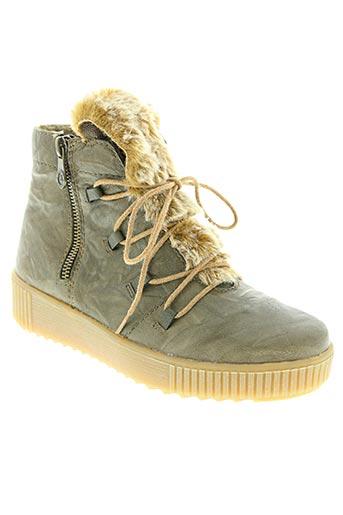 remonte chaussures femme de couleur vert