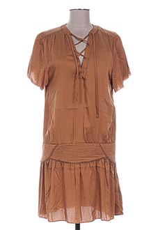 Robe courte marron IKKS pour femme