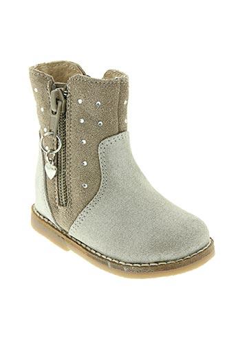 kouki chaussures fille de couleur beige