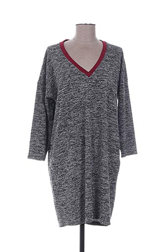 Robe pull gris DROLATIC pour femme
