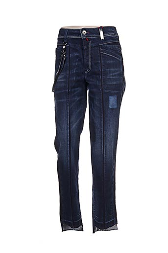 Jeans coupe slim bleu ICHI pour femme