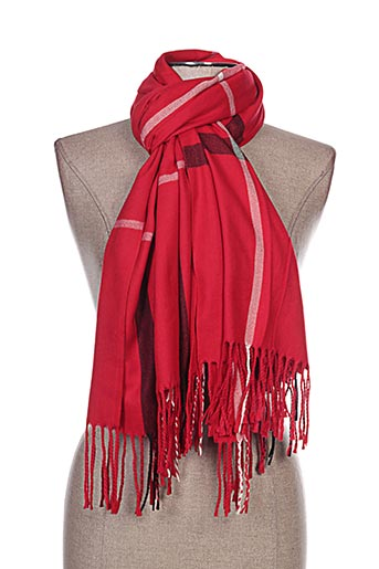 Echarpe rouge INEL pour femme