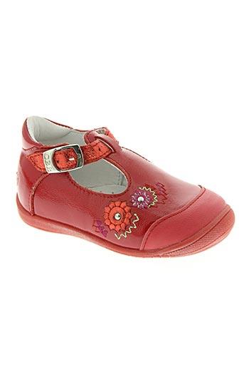 gbb chaussures fille de couleur rouge