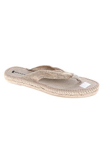 espanillas chaussures femme de couleur beige