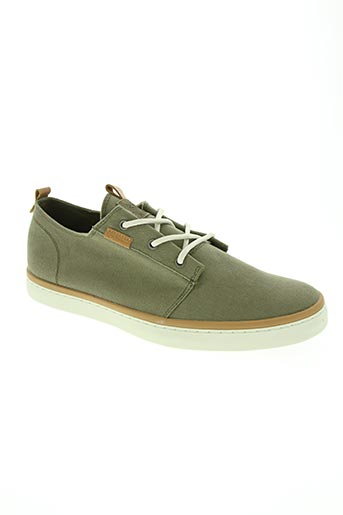 palladium chaussures homme de couleur vert