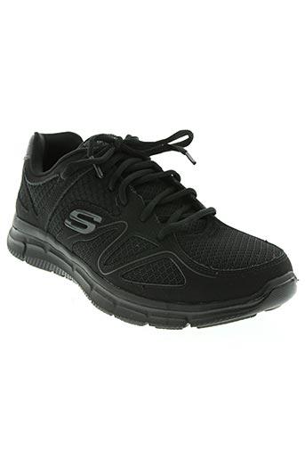 skechers chaussures homme de couleur noir