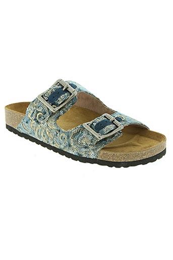 bibi lou chaussures femme de couleur bleu