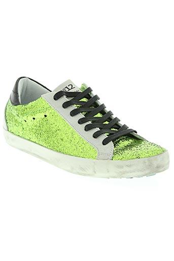 quattrobarradodici chaussures unisexe de couleur vert