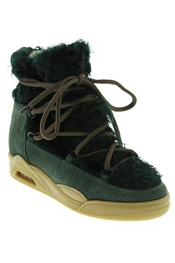 serafini chaussures femme de couleur vert