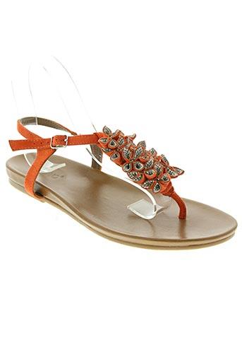 inuovo chaussures femme de couleur orange