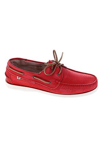 serge blanco chaussures femme de couleur rouge
