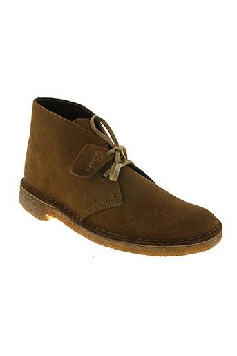clarks chaussures homme de couleur beige