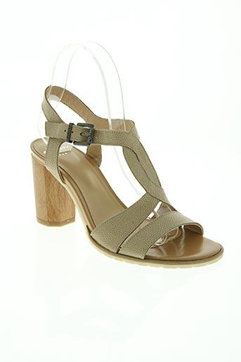 perlato chaussures femme de couleur beige