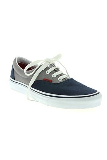 vans chaussures garçon de couleur bleu