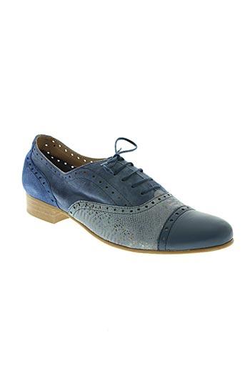 pinto di blu chaussures femme de couleur bleu