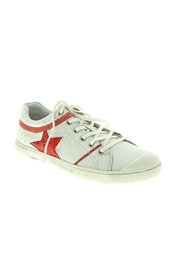 pataugas chaussures femme de couleur rouge