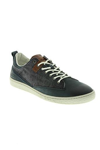 kicca trend chaussures homme de couleur bleu