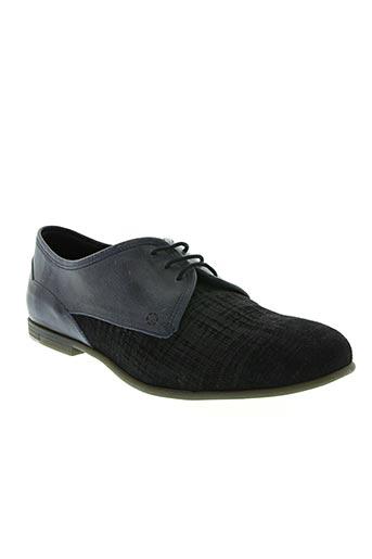 hexagone chaussures homme de couleur bleu