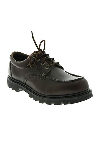 caterpillar chaussures homme de couleur marron