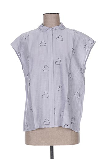 numph chemises femme de couleur bleu