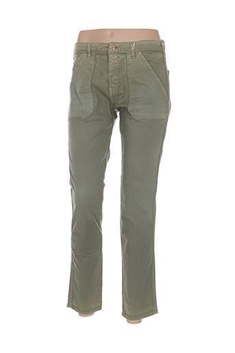 bô-m pantalons femme de couleur vert