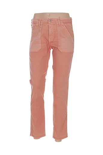 bô-m pantalons femme de couleur orange
