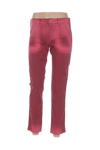 Pantalon 7/8 rouge BÔ-M pour femme