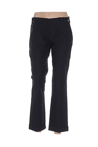 amy gee pantalons femme de couleur noir