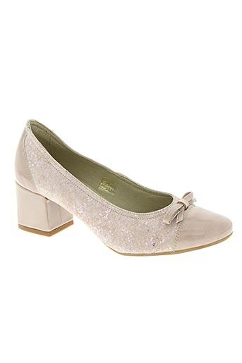 baerchi chaussures femme de couleur rose