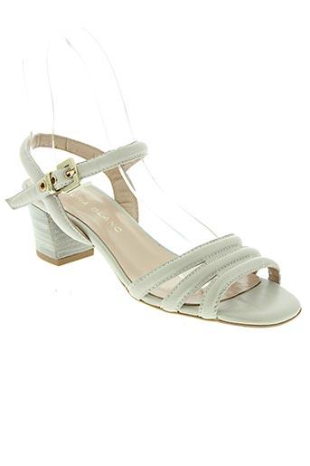 aura blanc chaussures femme de couleur beige