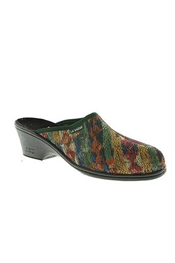 la vague chaussures femme de couleur vert