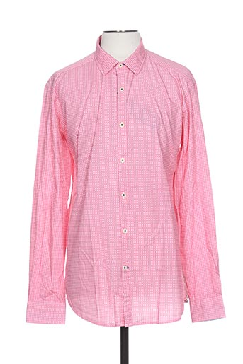 griffe noire chemises homme de couleur rose