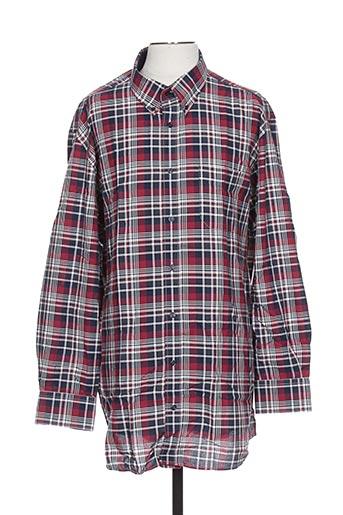 griffe noire chemises homme de couleur rouge
