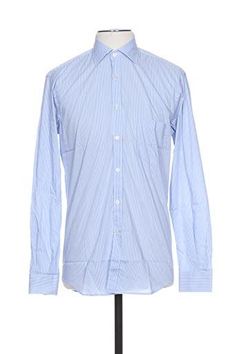 Chemise manches longues bleu UGO FERRINI pour homme