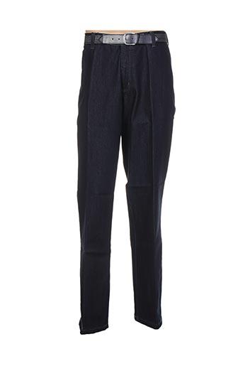 optimal pantalons homme de couleur bleu